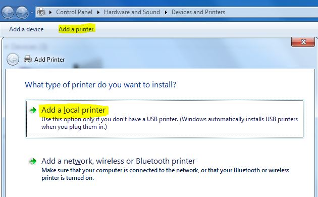 How to configure a printer